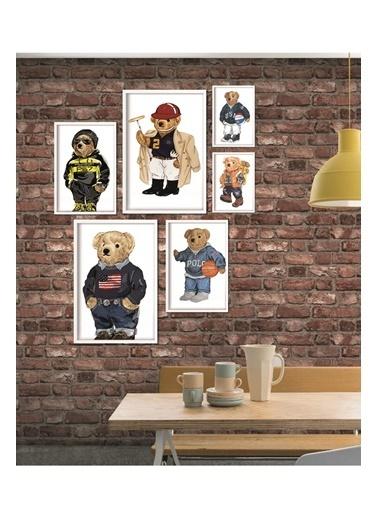Lyn Home & Decor Tedy Çerçeveli Poster 6 Lı Tablo 2 Adet 33,5X43,5 4 Adet 23,5X33,5 Beyaz